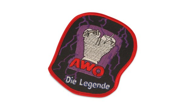 Patch violett/rot AWO Legende